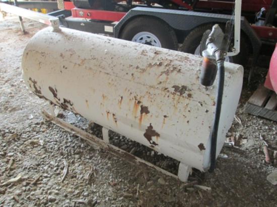 .Steel 250 gal. skid fuel tank w/elect. pump