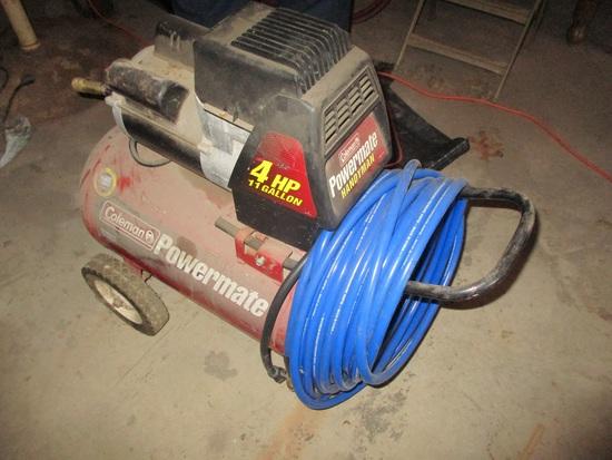 Coleman 4 hp., 11 gal. port. air compressor