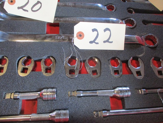 Snap-On 10 pc. 6 pt. crowfoot flare nut wrench set