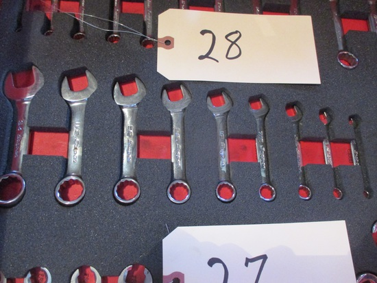 Snap-On 9 pc. SAE midget combo wrenches