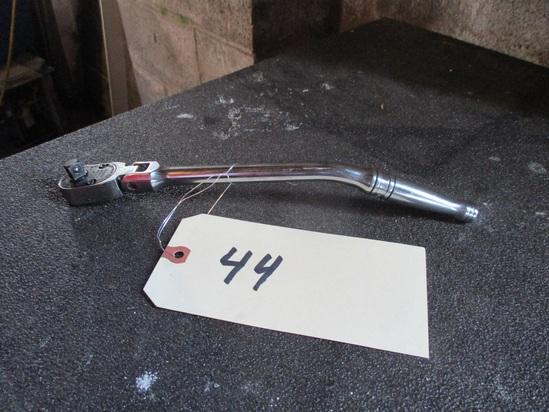"""Snap-On 3/8"""" 12"""" flex head bent angle ratchet"""