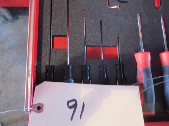 Snap-On 5 pc. flat tip electronic screwdriver set