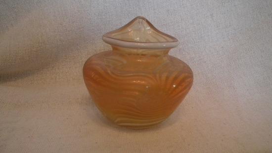 Vase, orange carnival