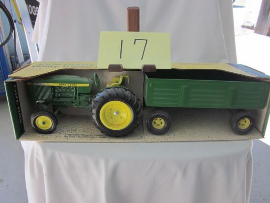 JD Utility Tractor & Wagon