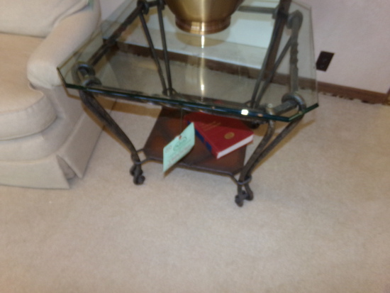 by Honker Glass Top Endtable