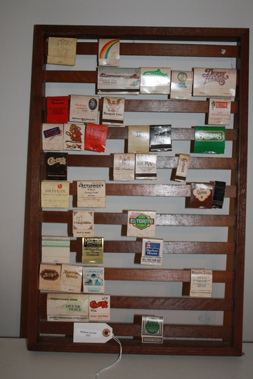 Match book collection and display