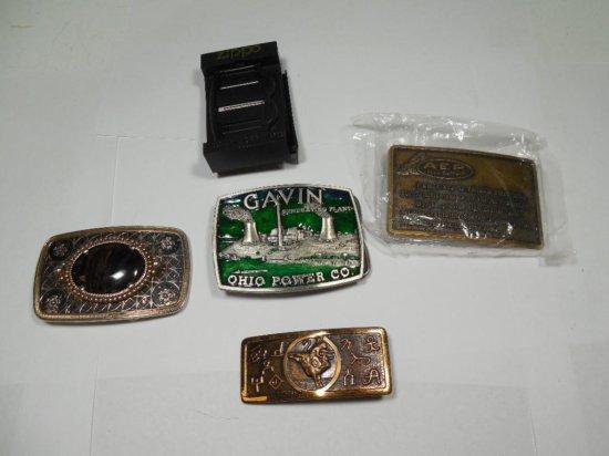 Group Lot Vintage Belt Buckles Inc. Nuclear
