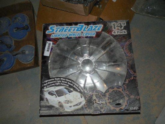 StreetBlaze Lighted Wheel Cover Set of 4