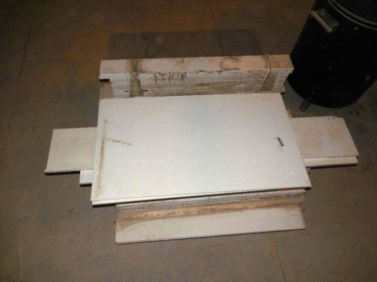 Stack of White Corian for Kitchen Projects