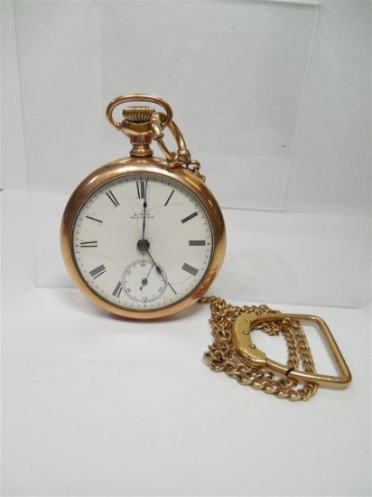 Gold Filled Waltham Pocket Watch 18 Size