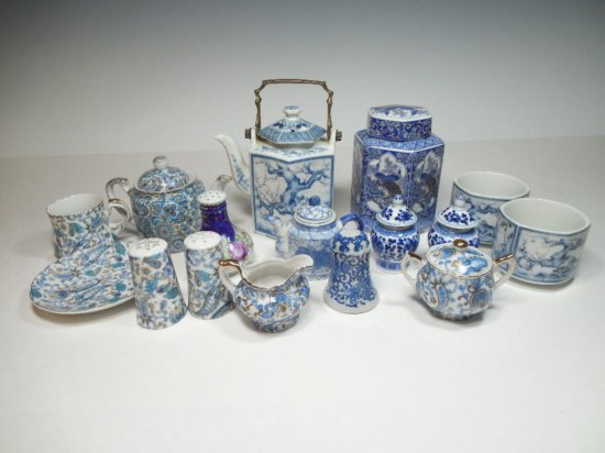 Large Group Lot Vintage Japanese Tea China Pieces