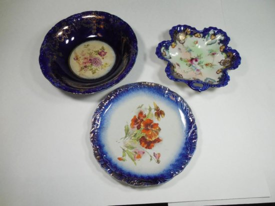 Group Lot of Cobalt Blue China Porcelain Pieces