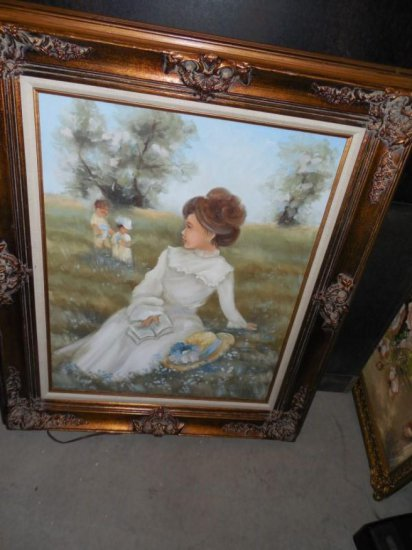 Vintage Painting of a little girl by Deena Albers
