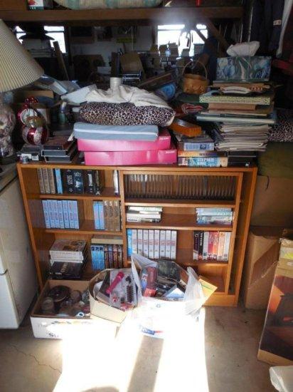 Large Clean Out Lot Inc. shelf, Videos etc
