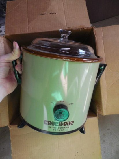 Vintage Crock Pot in Box