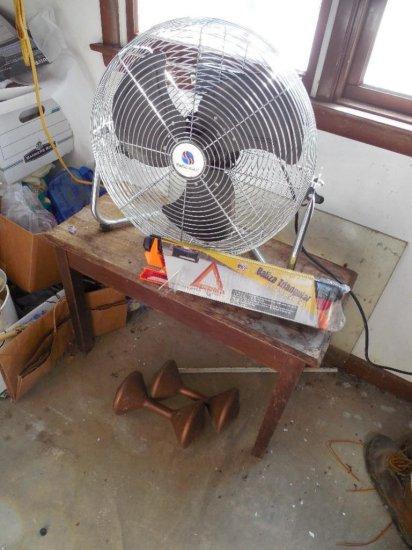 Fan, Emergency Reflectors, Table, Weights