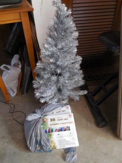 Aluminum Style Christmas Tree PLUS Other Xmas