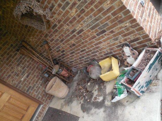 Porch Contents Including Lantern