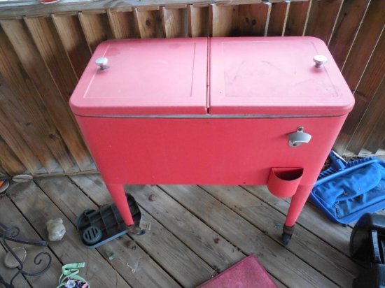 Red Outdoor Party Cooler