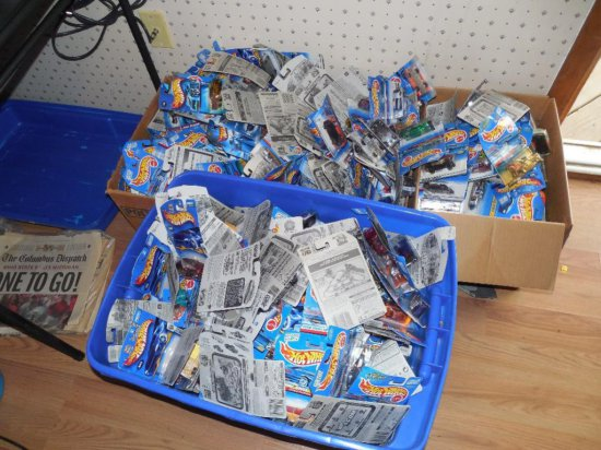 GIANT Lot of Hot Wheel Toys in Packaging