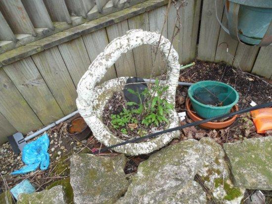 Cement Garden Basket