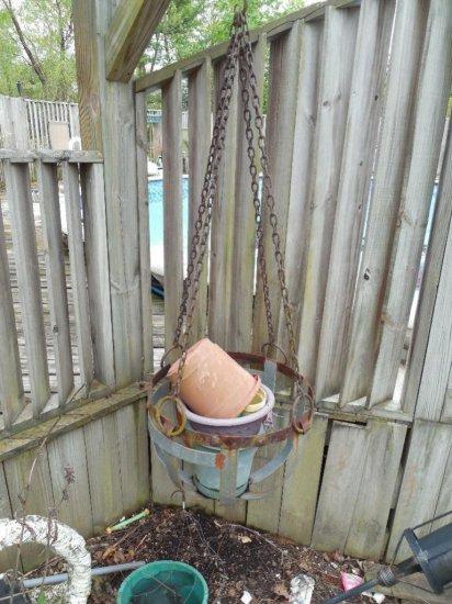 Large Hanging Metal Garden Basket