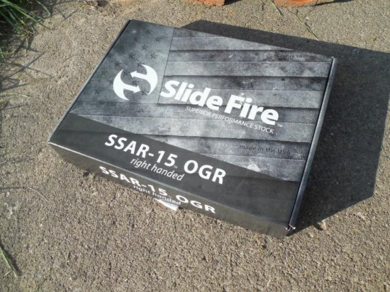Slide Fire SSAR-15 OGR Right Handed Stock NIB$