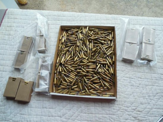 825+ Rounds Green Tip 5.56mm Ammunition XM855
