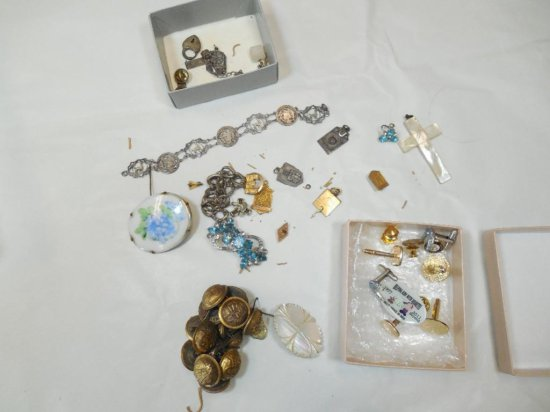 Gold, Silver Antique Jewelry, pins etc
