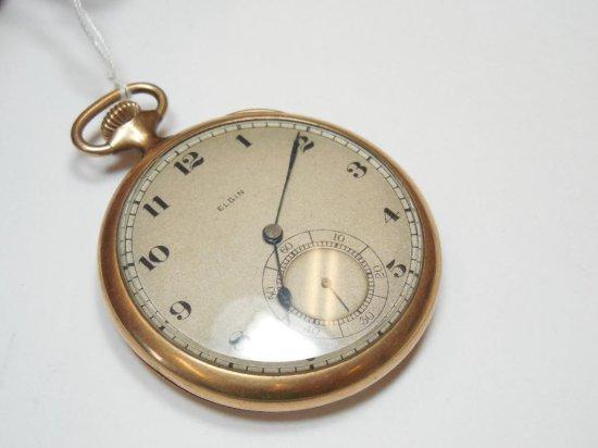 Elgin 17J Pocket Watch in Gold Filled Case
