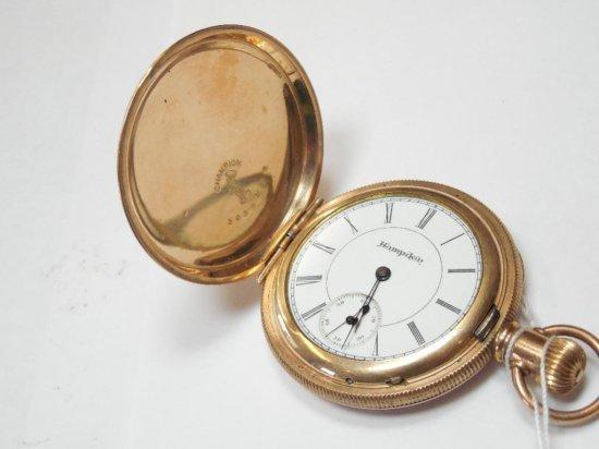 Hamden Pocket Watch in Engraved Case