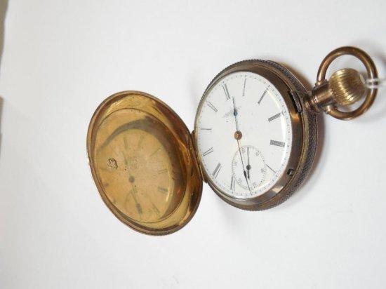 Elgin Pocket Watch in Fancy Gold Filled Case