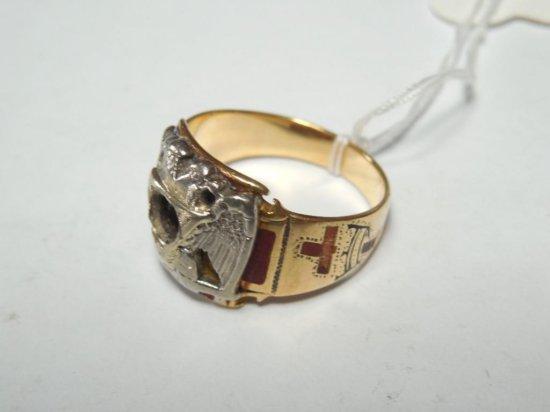 Men's 14k Gold Knights Templar RIng