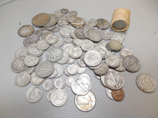 Bag lot of Mostly Silver 20th c. Coins