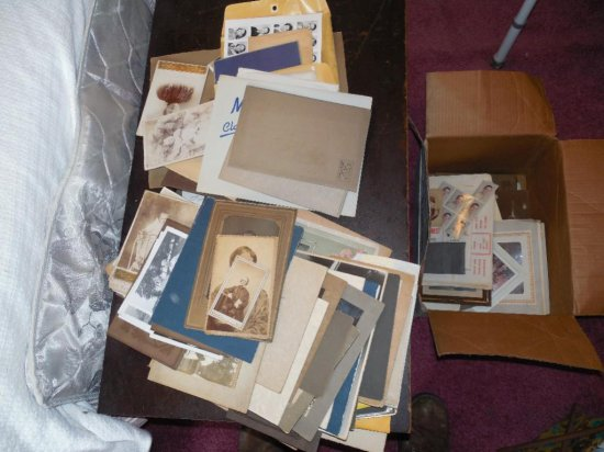 Huge Lot Old Photos CDVs, Cabinet Cards, Snaps etc