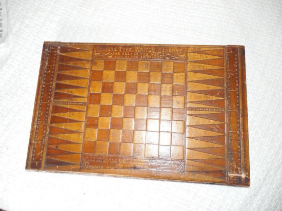 Type Writer Carbons Advertising Game Board - Antique