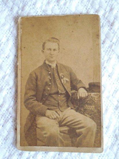 CDV Photo Civil War Soldier Inscription ID Iowa