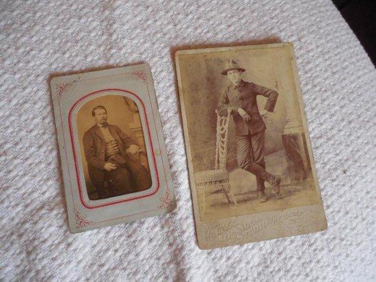 Civil War Soldier CDV, Span Am Cabinet Card Soldier