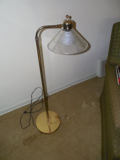 Vintage Adjustable Brass Lamp