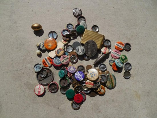 Large Lot Misc. Buttons c. 1930s Political Groups etc