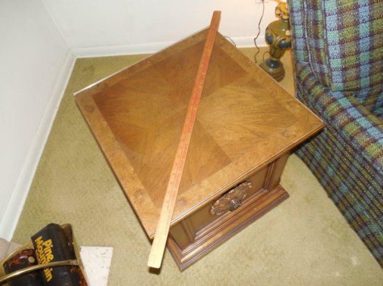 Vintage Wooden Lamp Table