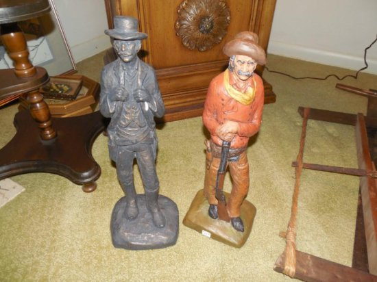 2 Ceramic Old West Cowboys