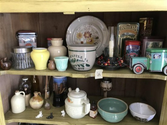 Large Lot Misc. Country Wares Mixing Bowls Glass Etc