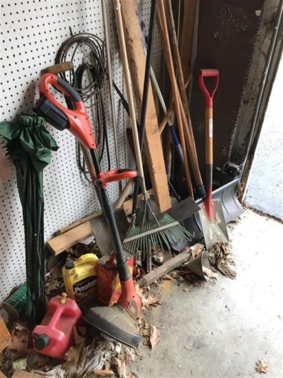 Corner Lot Of Yard Tools Etc Lot