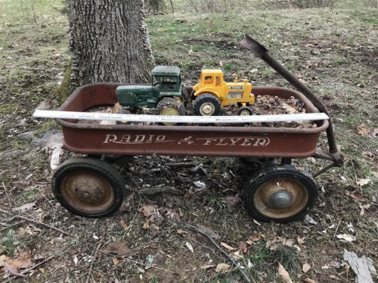 Early Radio Flyer Wagon Plus Toys