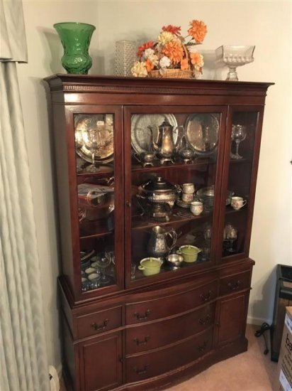 Complete Contents Of China Cabinet Top & Bottom