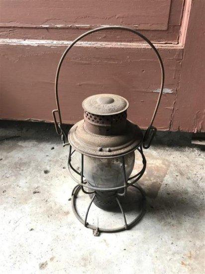 Antique Railroad Or Barn Lantern Adlake