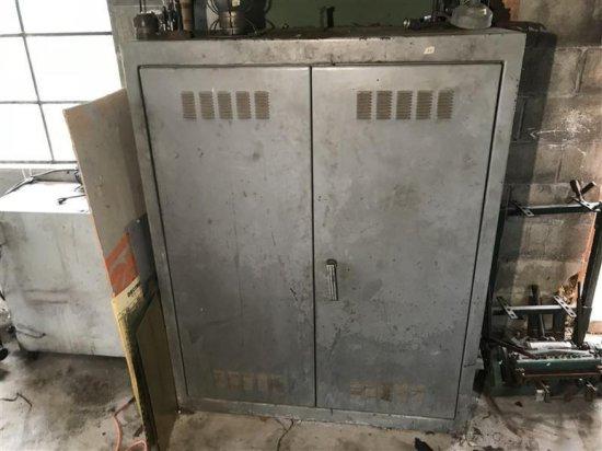 Very Large Industrial Steel Storage Cabinet Locker