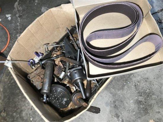 Box Of Lathe Mill Machinist Parts + Sanding Belt