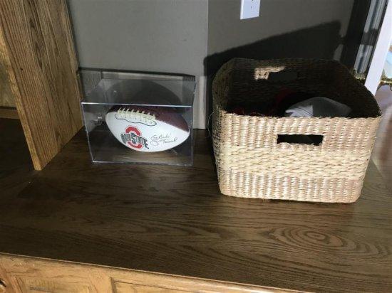 Jim Tressel Signed Ohio State Football PLUS Hats